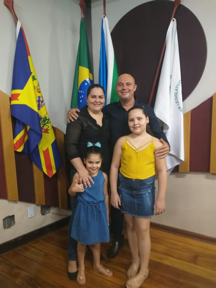 Adriano Taxista e familia/Foto: Arquivo pessoal
