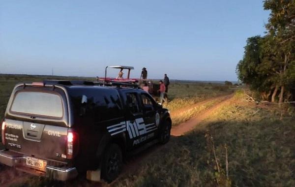Polícia Civil durante ação na zona rural. Foto: Divulgação