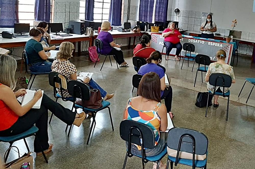 Encontro de coordenadores da SEMED/Foto: Assessoria PMRB