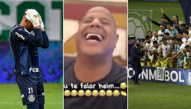 Marcelinho Carioca zoa Palmeiras após vice na Recopa Sul-Americana; assista