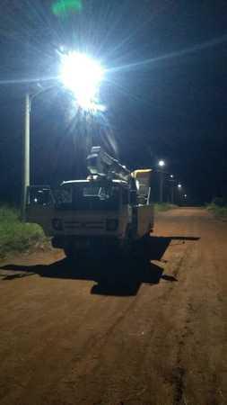 Morador registrou serviços de implantação da iluminação, no Capão Seco