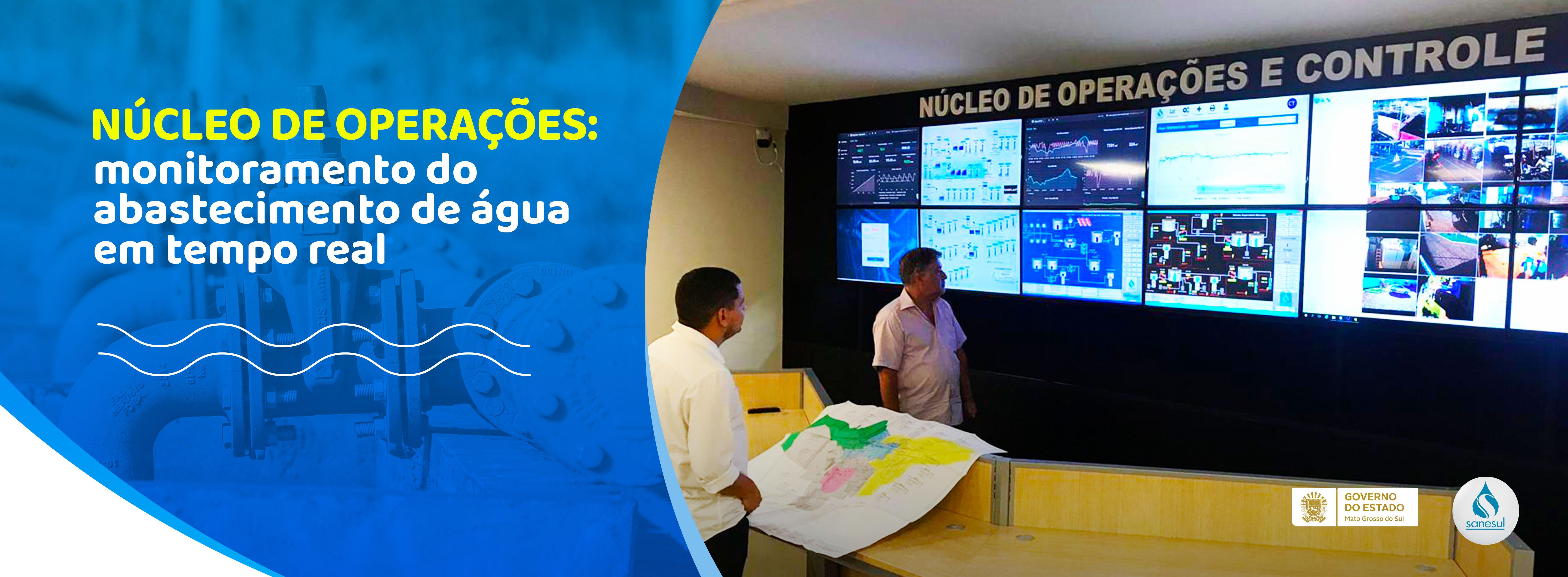 Núcleo de Operações da Sanesul monitora abastecimento de água em tempo real