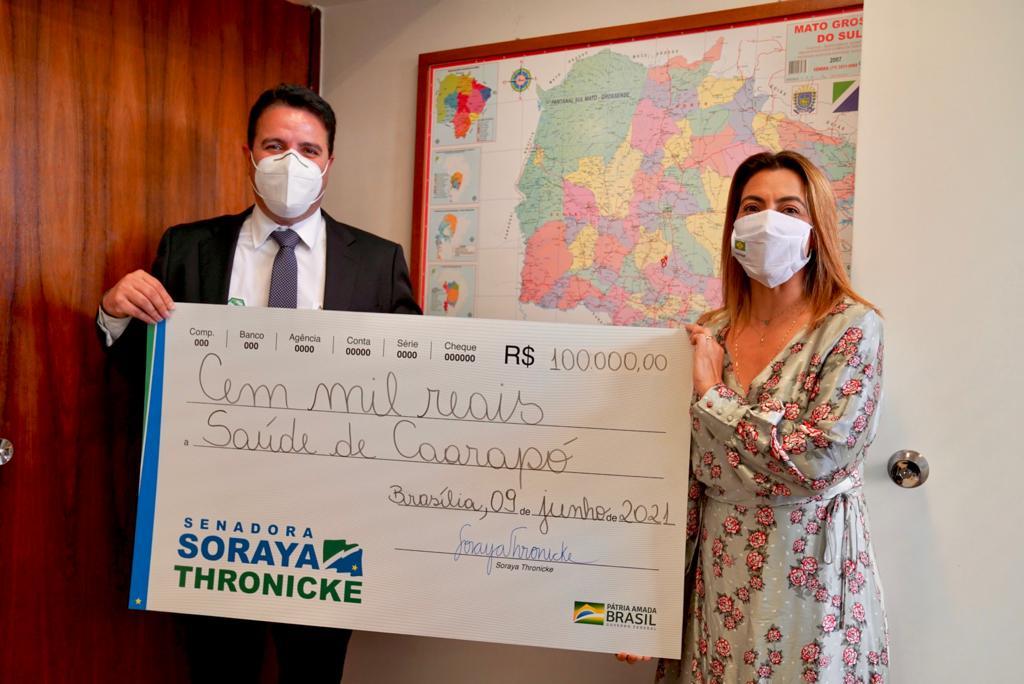 Senadora Soraya Thronicke e Prefeito André Nezzi