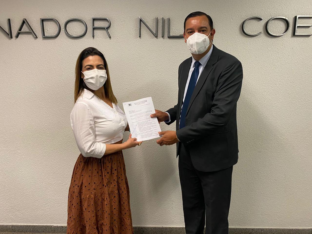 Senadora Soraya Thronicke e o ver. Edison Paz de Jatei/Foto: Assessoria