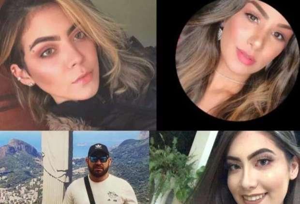 Rhannye Jamilly, Kaline Reinoso, Osmar Vicente e Haylle Carolina morreram no ataque - Crédito: Hedio Fazan/Dourados News